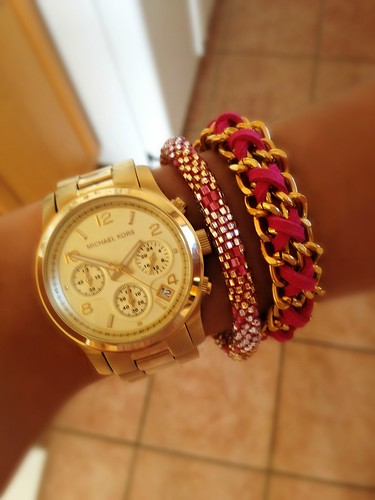 Michael Kors Gold Chronograph Mae Movement Lily Laura Mikaylove
