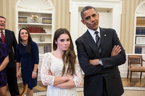 "President Obama and McKayla Maroney are ""Not Impressed"" (Photo)"