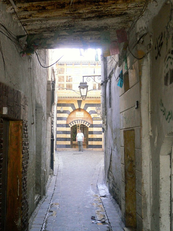 The back streets of Aleppo