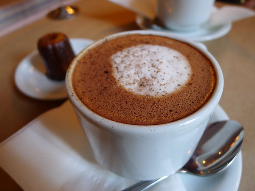 LA Burdick Hot Chocolate (Dark) with Canele