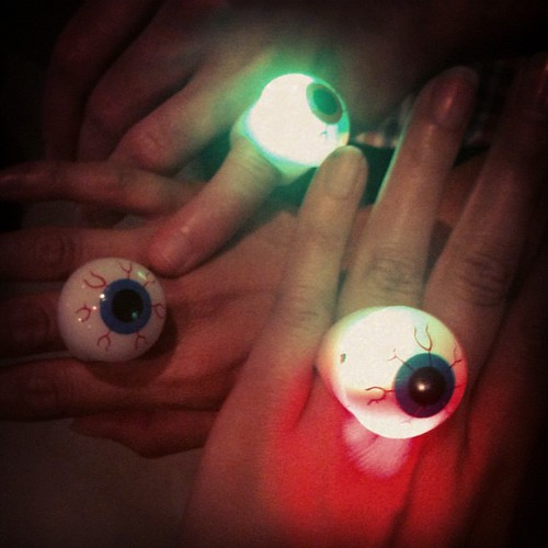 Best event wristbands ever: flashing eyeball rings at Village Bizarre launch with @oggsie by sohotrightnow