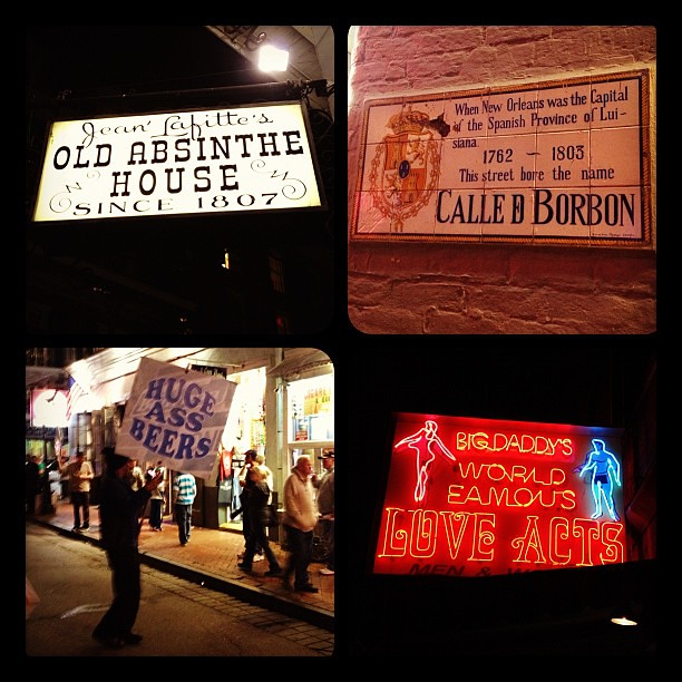 """Love Acts"" -Bourbon Street signs #neworleans"