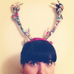Lol, leaned against the wall to take a stupid photo and forgot the Star Wars stag is hung here. Accidental photo fun.