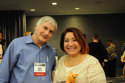 With Seth Shostak at VIP reception - SETIconI