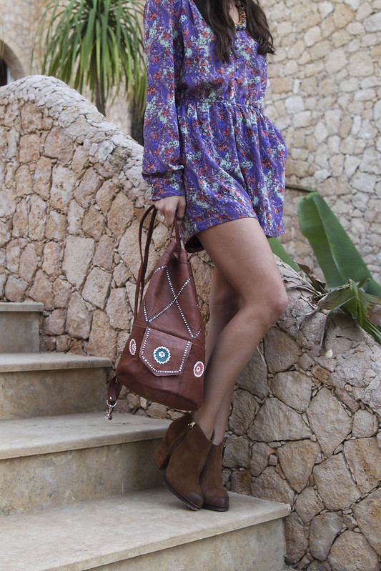9f2392646525 Romper: BCBGeneration, Shoes: Zara, Bag: Market find from Morocco