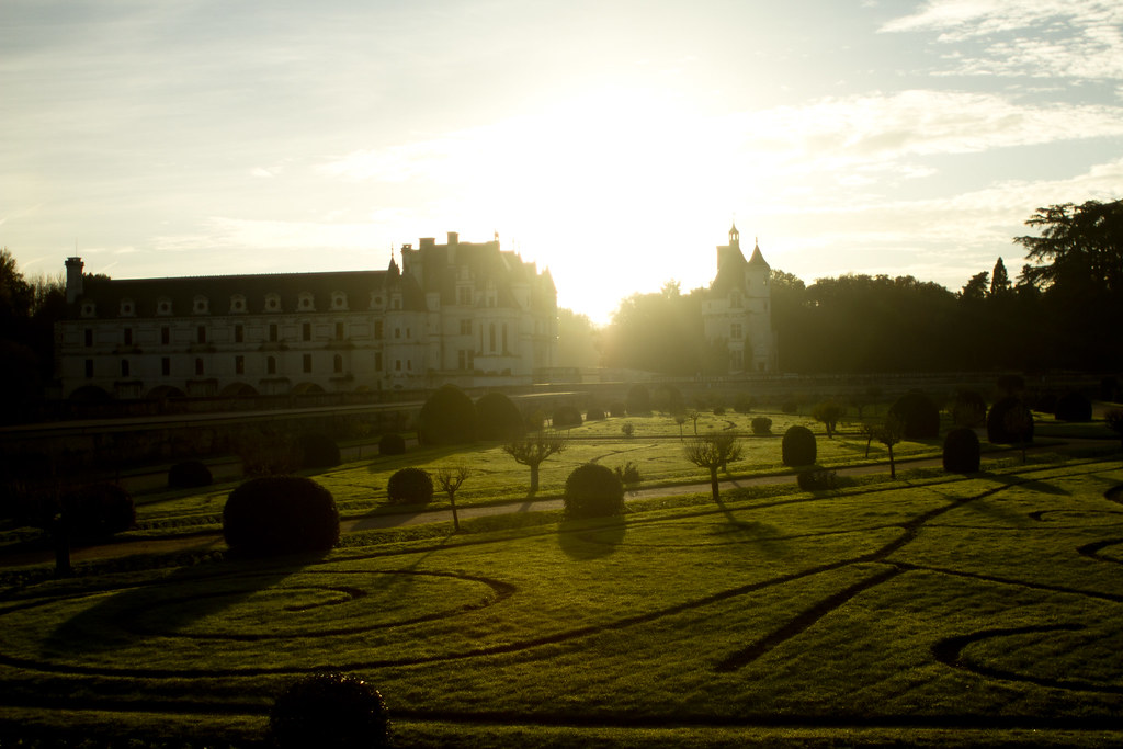 sunset at Chenonceaux 2