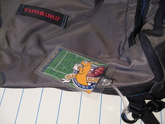 A College-Themed Luggage Tag (Photo by J Burrell)