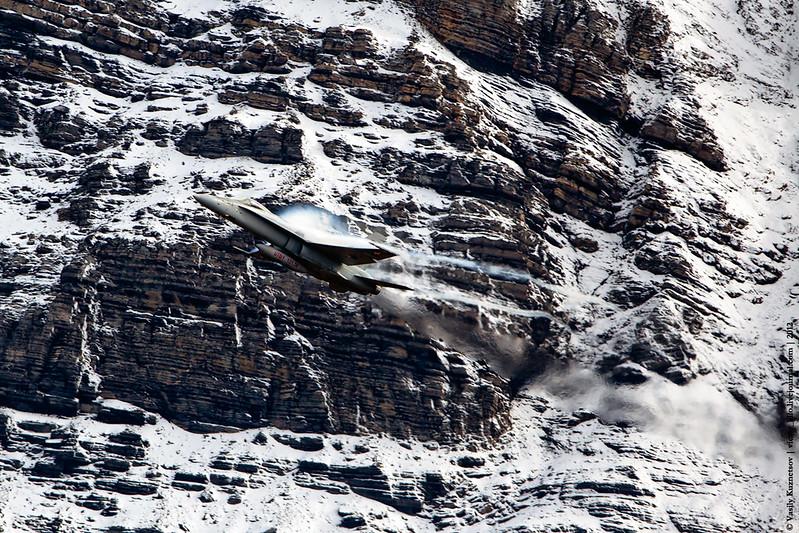 Swiss AF F/A-18C at Axalp