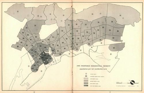 Oakland 1980 Proposed Residential Density (1959)