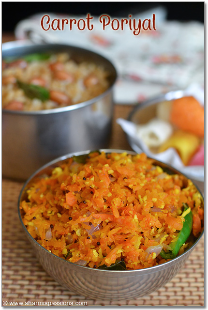 Carrot Poriyal Recipe