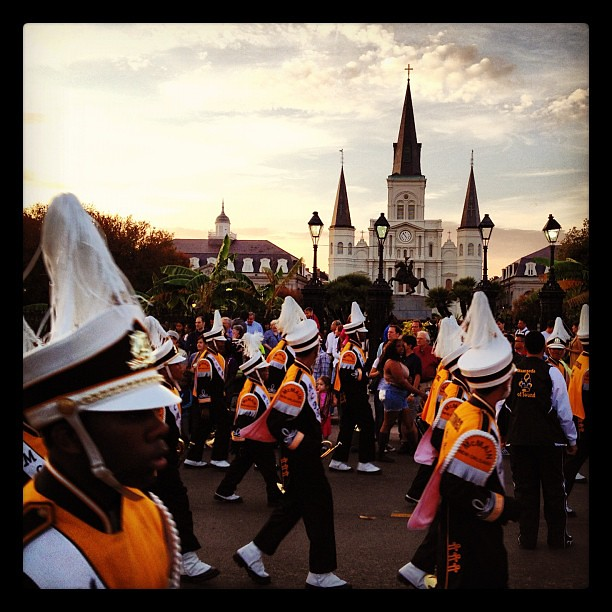 Happy Thanksgiving from New Orleans! @ Bayou Classic Parade