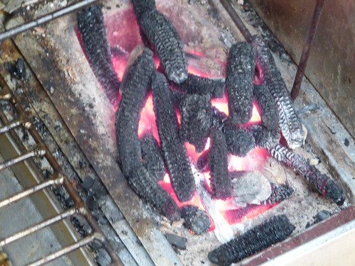 cooking with maize cob charcoal