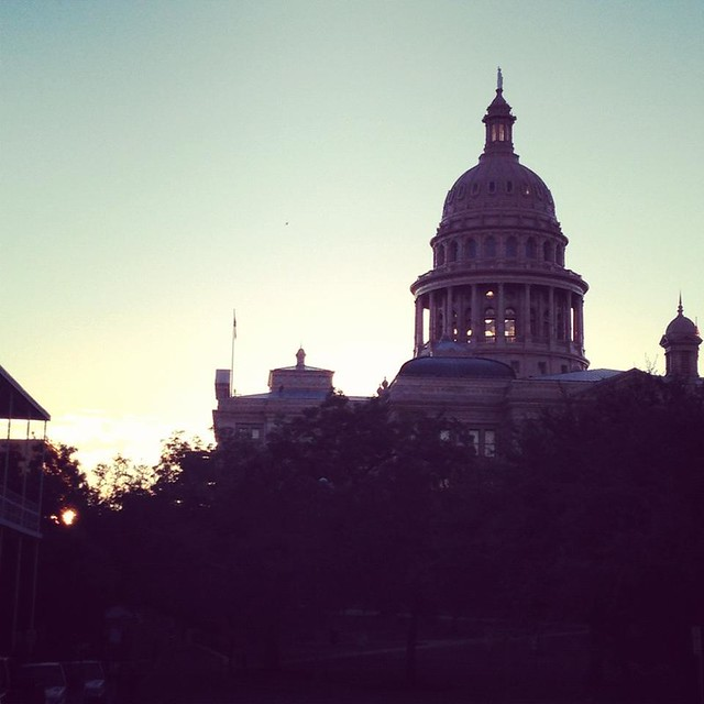 The Capitol building in Austin.