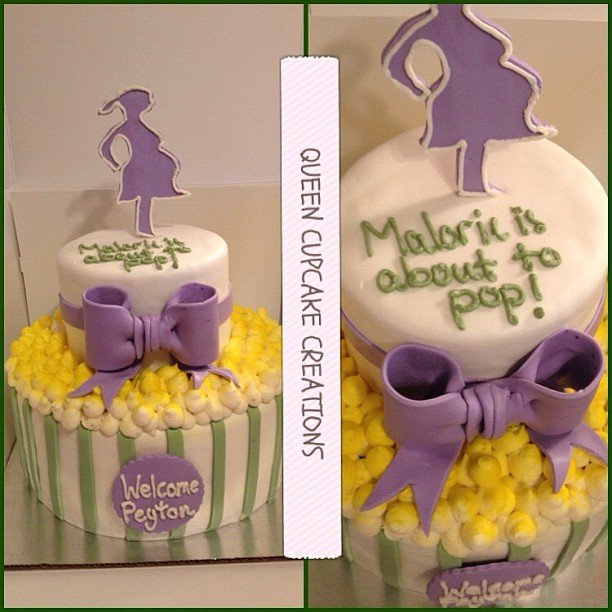 popcorn baby shower cake cake popcorn babyshower