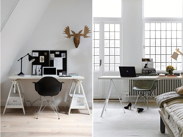 Diy Home Trestle Desk A Pair Amp A Spare