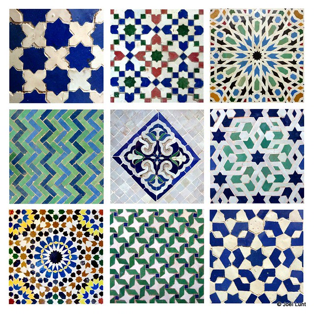 Arabesque almas inset tile a geomtric patterned tile for Tiles color and design