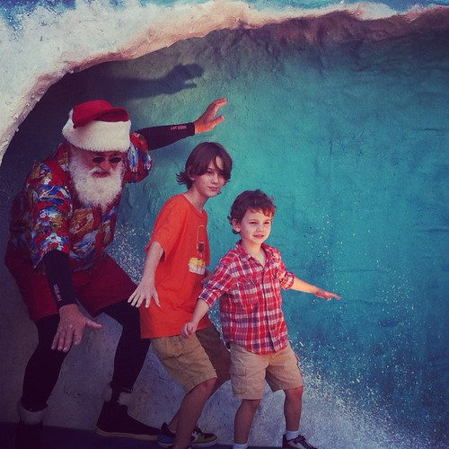 Surfin' Santa Arrival