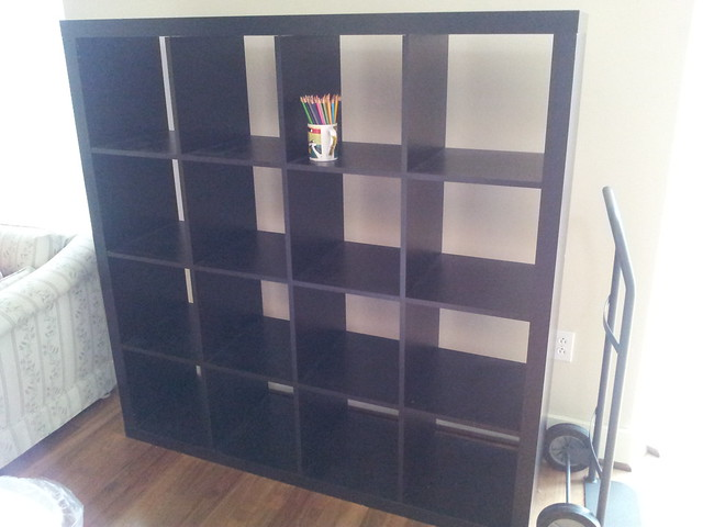 ikea 4x4 expedit shelving unit 40 flickr photo sharing. Black Bedroom Furniture Sets. Home Design Ideas