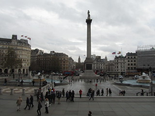 Trafalgar Square, from the National Gallery steps