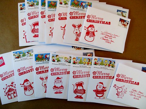 Mailbox Happiness: Christmas Envelope Decorating on the Cheap!