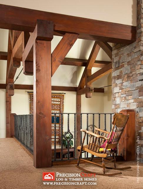 Timber Frame Loft | PrecisionCraft Timber Frame Homes