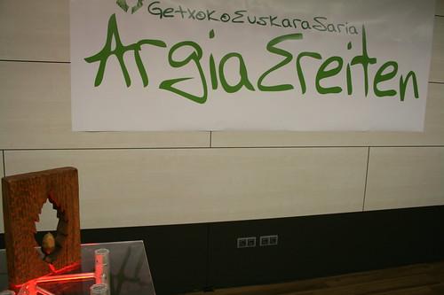 Argia ereiten: 2012 Getxoko euskara saria