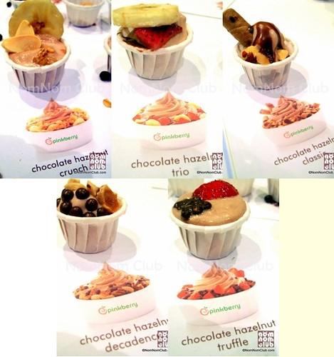Pinkberry Chocolate Hazelnut Yogurt Combinations