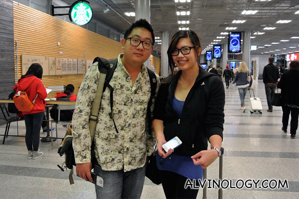 Look! I bumped into my friend, Scarlett who happened to be in the same Finnair flight from Singapore to Helsinki!