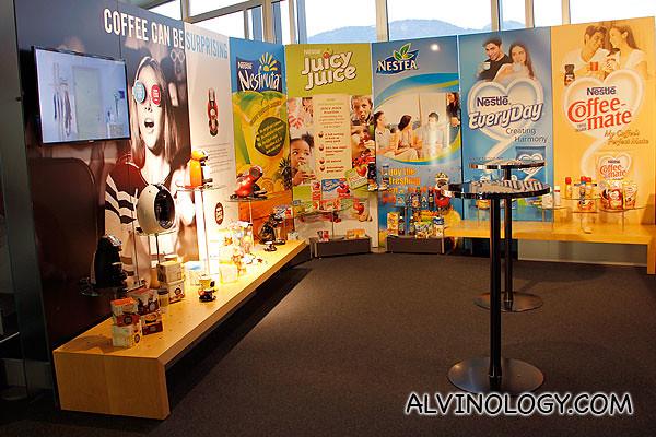 Assorted Nestle brands