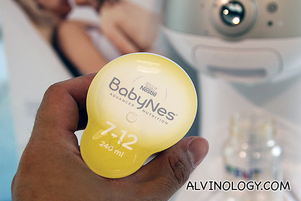 A BabyNes capsule