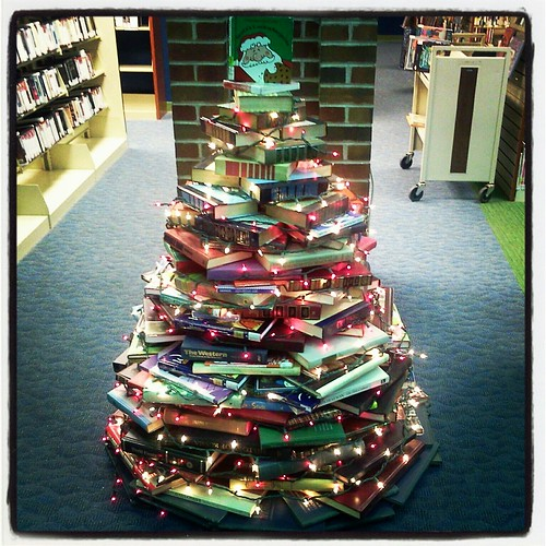 Library Book Christmas Tree