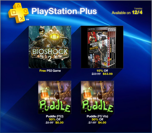PlayStation Plus Update 12-3-2012
