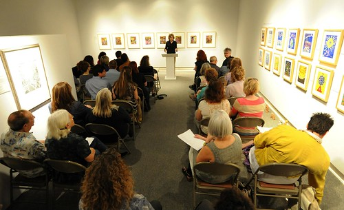 Poetry reading, Meadows Museum, Shreveport. Ashley Havird at podium. Stan Carpenter photos.
