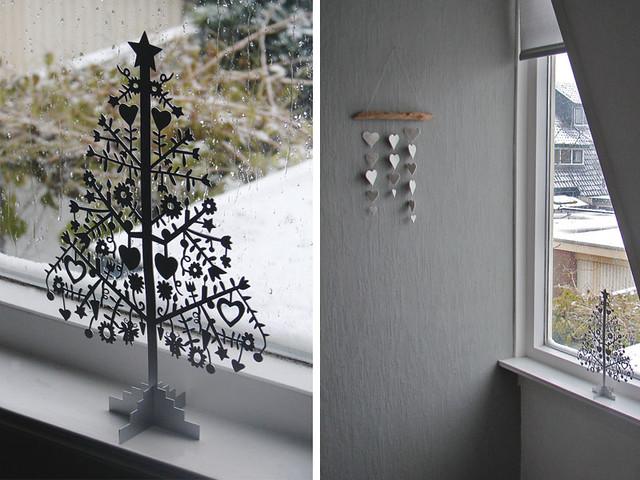 Eerste sneeuw, eerste kerstdecoratie