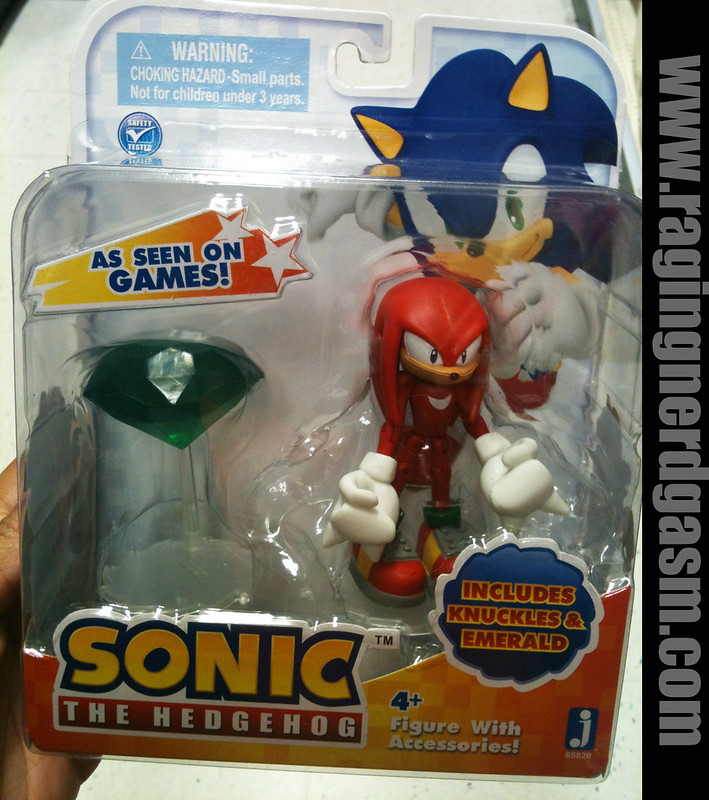Sonic The Hedgehog 3 inch figures Knuckles and Chaos Emerald  by Jazwares 004