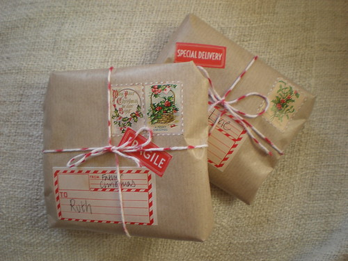 Wrapped Christmas Parcels