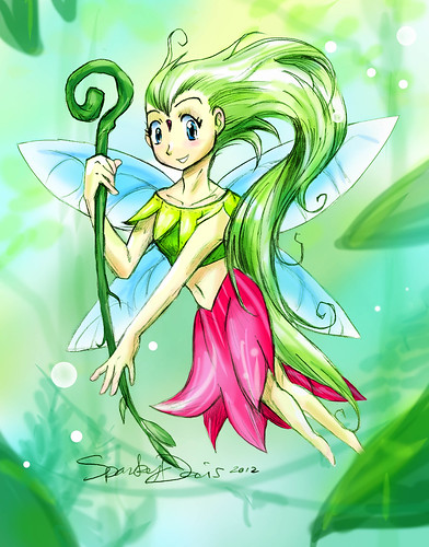 Green Forest Fairy-Sprite