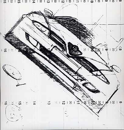 Alfa Romeo 166 schizzo De Silva