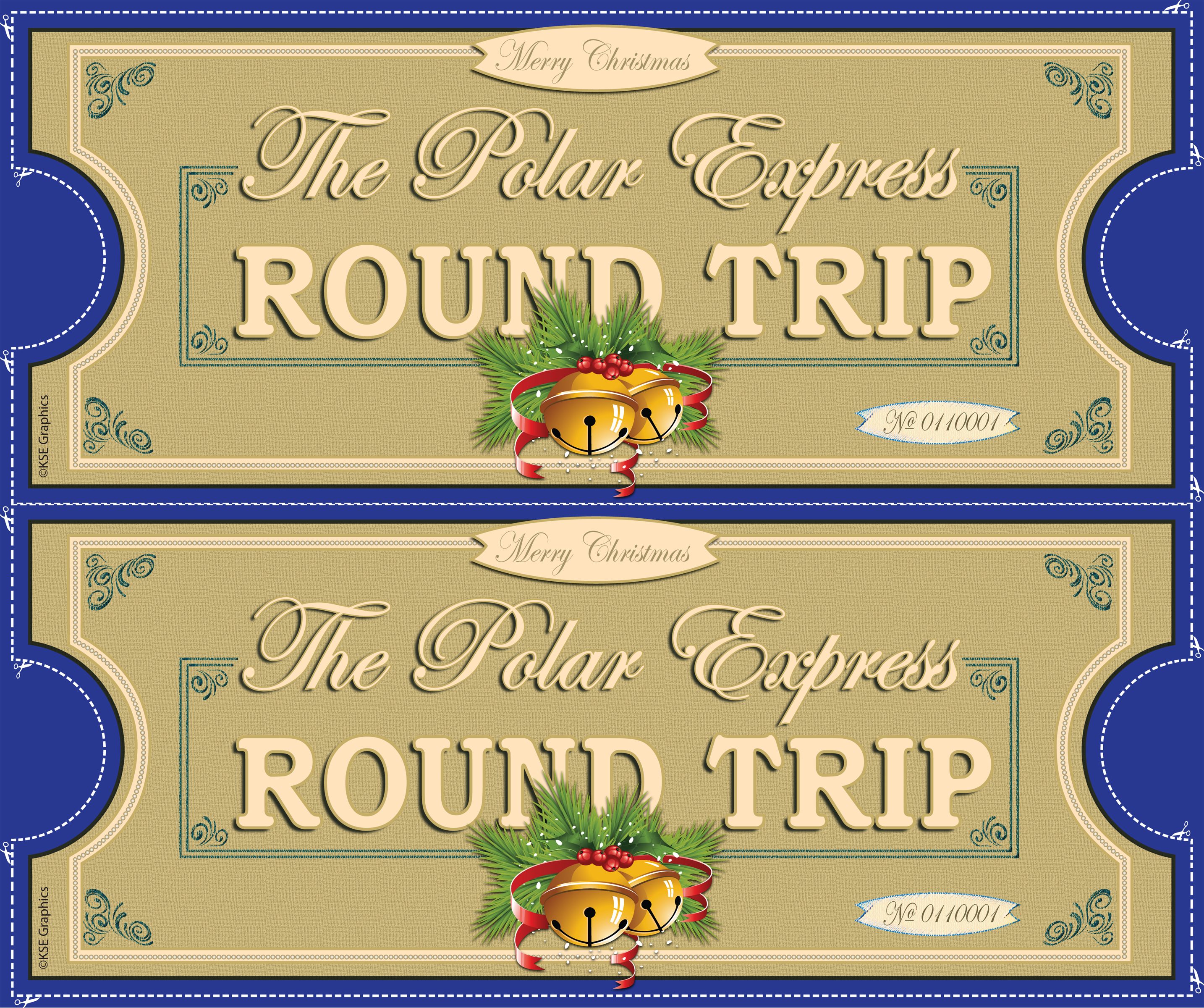 Polar Express tickets FRONT 2up BLUE | Flickr - Photo Sharing!