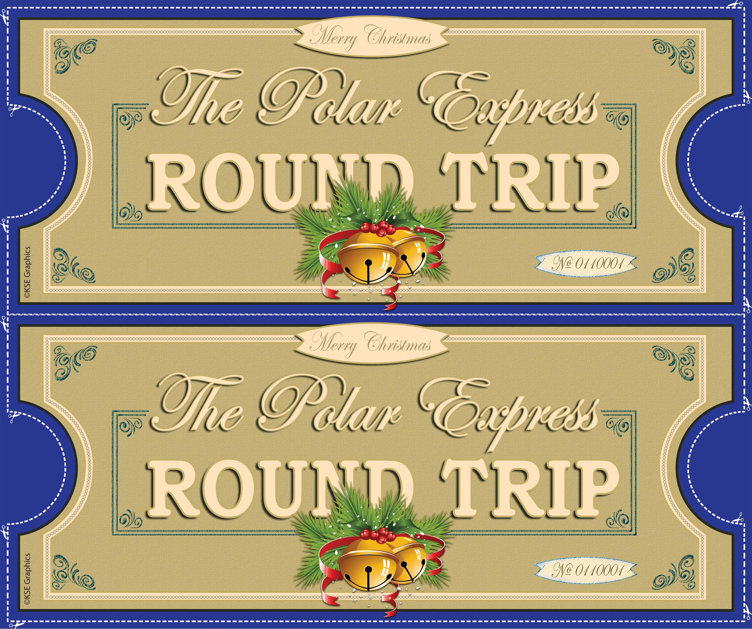 Polar express printable tickets for free new calendar for Polar express golden ticket template