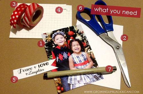 DIY washi tape holidays card