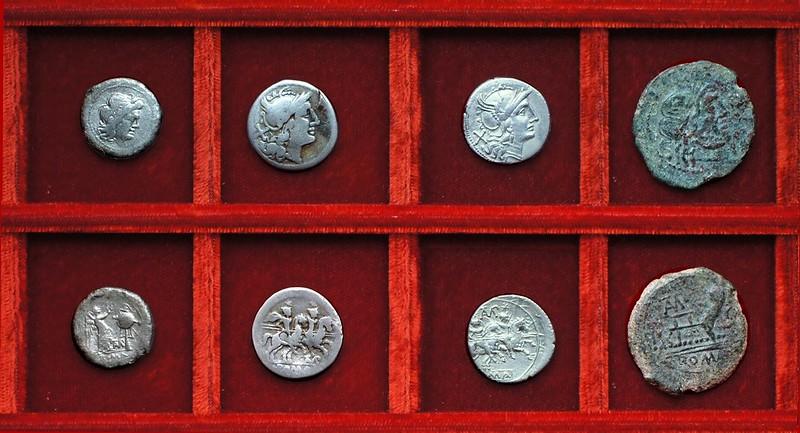 RRC 133 TAMP Baebia victoriatus, denarii, semis, bronzes, Ahala collection, coins of the Roman Republic
