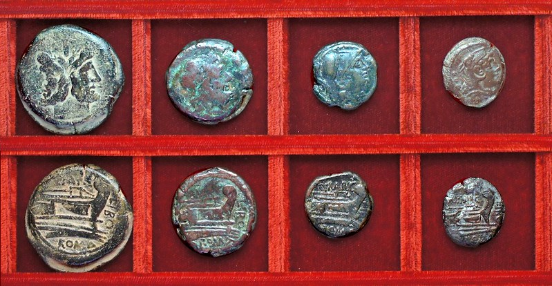 RRC 215 Q.MARC LIBO Marcia bronzes, Ahala collection, coins of the Roman Republic