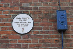 Photo of Mary Tourtel white plaque