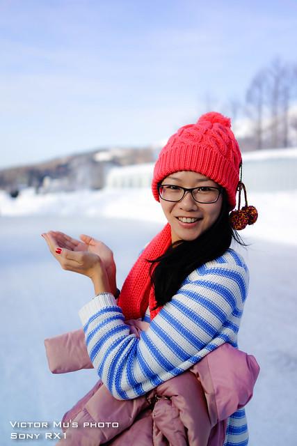 北海道 星野度假村 下雪了
