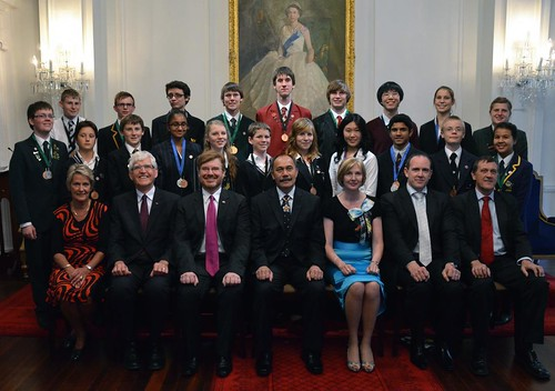 2012 Realise the Dream cohort with NZ Governor General the Rt. Hon. Jerry Mateparae and program sponsors. Photo credit: US Embassy, Wellington.