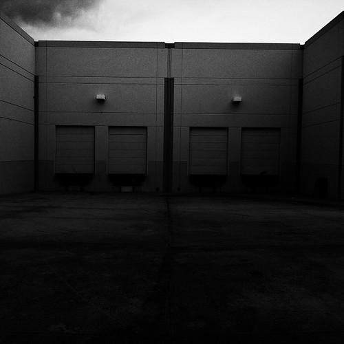 The Black and White of Suburbia's Factories 351/365 #365