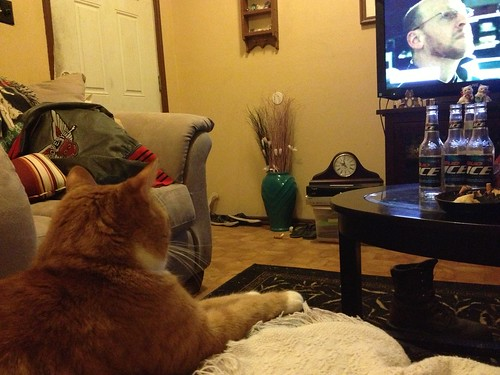 Axle watching television with me