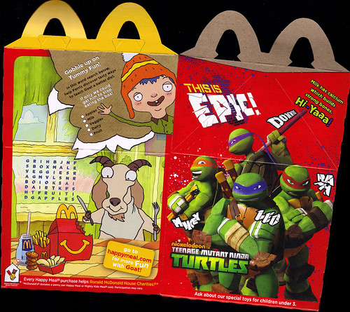 "McDonald's Happy Meal :: ""TEENAGE MUTANT NINJA TURTLES & MOSHI MONSTERS""  ii (( 2012 ))"