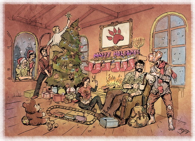 Naughty Dog 2013 holiday card